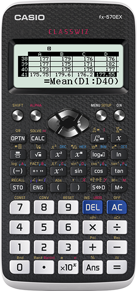 fx-570EX | ClassWiz | Non programmable | scientific calculator | CASIO