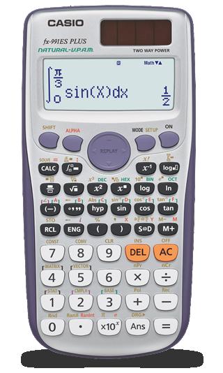 Fx-991es plus   natural textbook display models -non programmable.